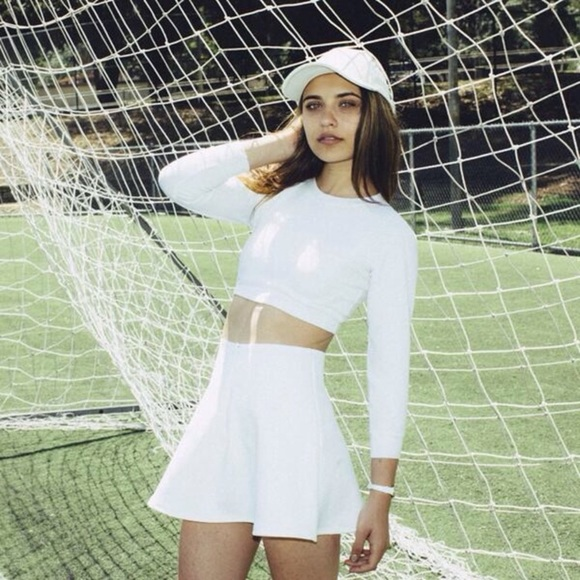 American Apparel Dresses & Skirts - American apparel brigitte white mini circle skirt